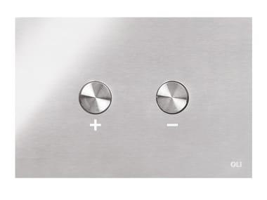 Placca di comando per wc in acciaio inox BLINK