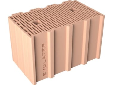 External masonry clay block BLOCK 40x25x25