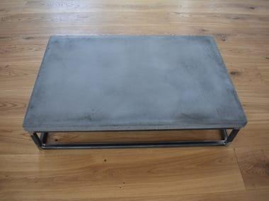 Tavolino da caffè rettangolare in calcestruzzo BLOCK
