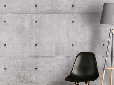 Papel de parede com efeito concreto BLOCK