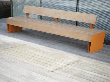 Bench with back BLOCQ | Bench with back