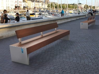 Bench with Integrated Lighting with back BLOCQ SMART | Bench with back