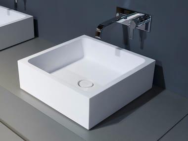 Lavabo da appoggio in marmo di Carrara BLOKKO | Lavabo