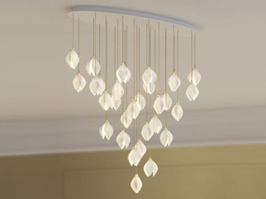 LED porcelain pendant lamp BLOOM SMALL ELLIPSE 31