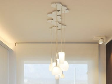 LED direct light glass pendant lamp BLOW | Glass pendant lamp