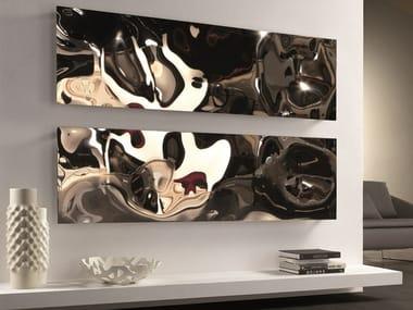 Horizontal stainless steel decorative radiator BLOW | Horizontal decorative radiator