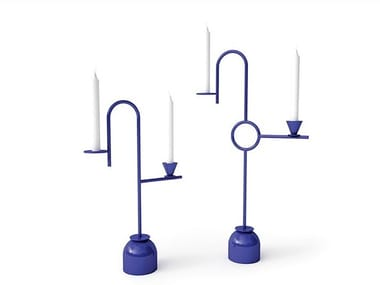 Metal candle holder BLUE CANDLEHOLDERS