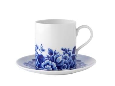Porcelain tea cup with saucer BLUE MING | Tea cup