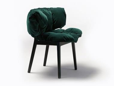 Upholstered velvet chair BLUE VELVET
