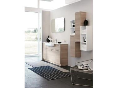 Floor-standing vanity unit with mirror BLUES 06