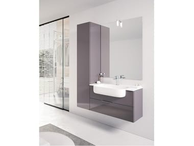 Wall-mounted vanity unit with mirror BLUES 08