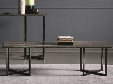 Rectangular marble coffee table BLUNT | Rectangular coffee table
