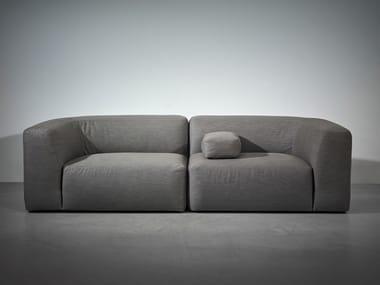 Sofá secional modular de tecido BO LIVING | Sofá 2 lugares