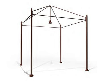 Brass gazebo with built-in lights BOBOLI