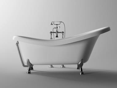 Vasca da bagno centro stanza in acrilico su piedi BOHEME | Vasca da bagno