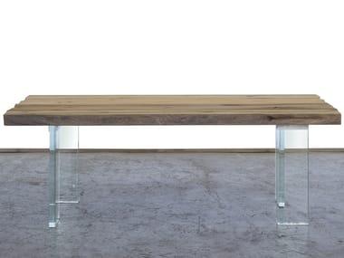 Rectangular reclaimed wood dining table BOITE