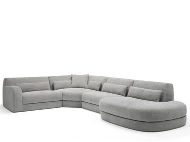 Sofá secional de tecido BOLD | Sofá secional
