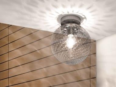 Glass ceiling light BOLLE PL