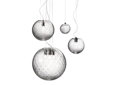 Glass pendant lamp BOLLE SP
