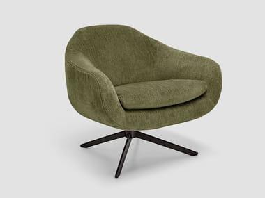 Fabric armchair with armrests BOND