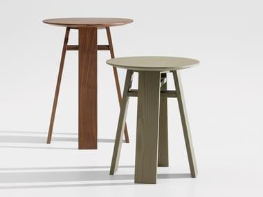 Mesa de centro de madeira maciça BONDT SML