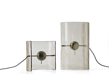 LED glass table lamp BONFIRE