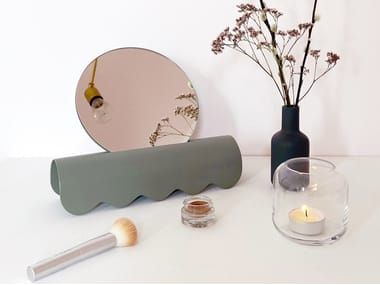 Countertop mirror with steel base BONJOUR
