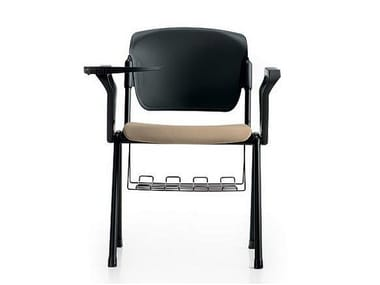 Training chair with armrests with writing tablet BONN | Training chair with writing tablet