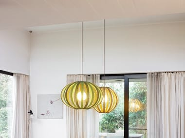 Merino wool pendant lamp BONNET BRIGHT | Pendant lamp