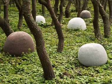 Wool garden pouf BONNET OUTDOOR