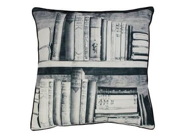 Cuscino quadrato in tessuto BOOKSHELF | Cuscino