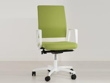 Height-adjustable swivel task chair with 5-Spoke base BOOMERANG 9400 RA (AB) C/B8 (B)