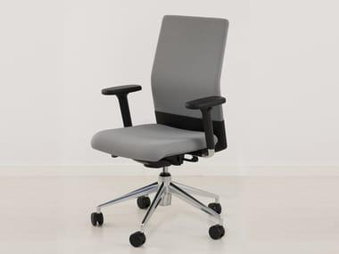 Height-adjustable swivel task chair with 5-Spoke base BOOMERANG 9400 RA-X C/BR