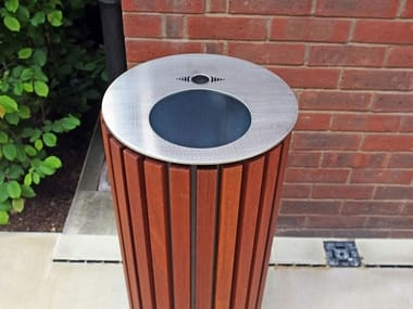Stainless steel litter bin with lid BOORT | Litter bin