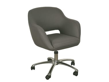 Task chair with 5-Spoke base with casters BORBOLETA | Task chair