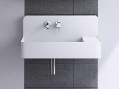 Single wall-mounted artificial marble washbasin BORDE