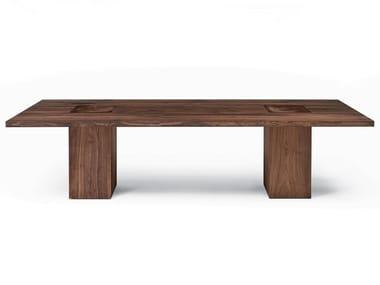 Rectangular solid wood table BOSS EXECUTIVE