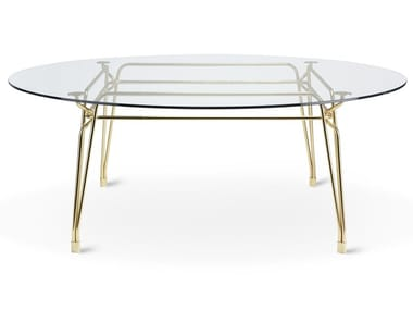 Mesa de jantar redonda de vidro BOTANY | Mesa redonda