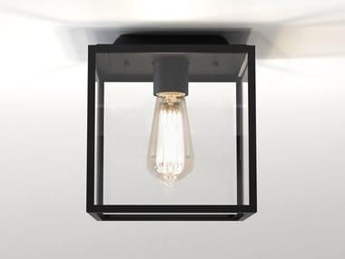 Lampada da soffitto per esterno in acciaio inox e vetro BOX   Lampada da soffitto per esterno