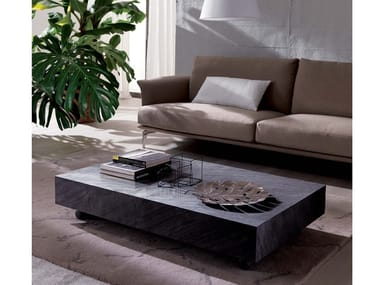 Height-adjustable wooden coffee table for living room BOX LEGNO