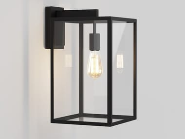 Glass and steel Outdoor wall Lamp with dimmer BOX | Outdoor wall Lamp