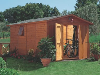 Garden shed in laminated pine wood BOX