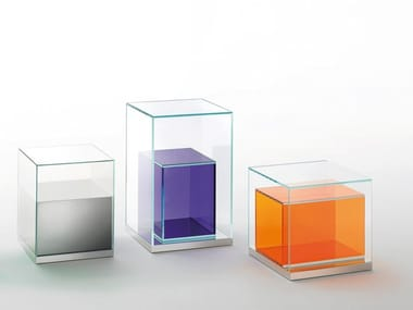 Square crystal coffee table with storage space BOXINBOX | Coffee table with storage space