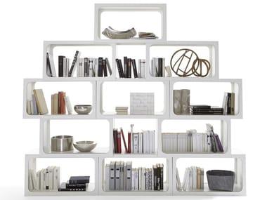 Libreria a giorno autoportante in compensato BOXIT
