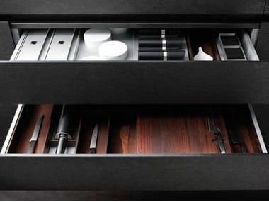 Organizador para cajón de aluminio y madera BOXTEC
