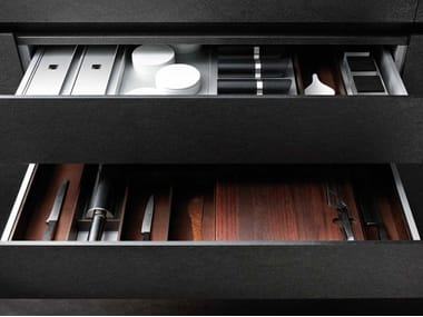 Aluminium and wood Drawer insert BOXTEC