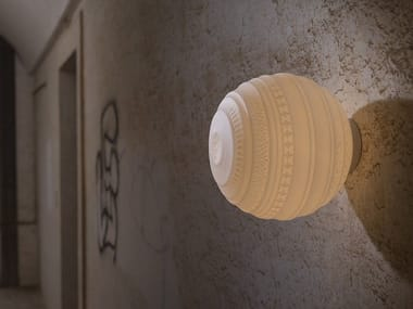 Satin glass wall lamp / ceiling lamp BRAILLE | Wall lamp