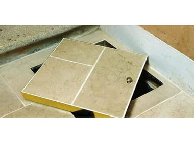 Manhole cover and grille for plumbing and drainage system BRASS