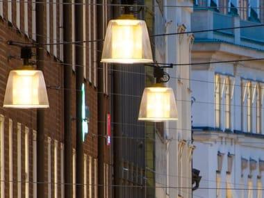 Lampada a sospensione per esterno a LED su cavi in metallo BRASS | Lampada a sospensione per esterno