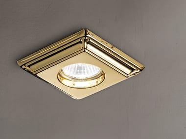 Semi-inset ceiling brass spotlight BRASS & SPOTS VE 859